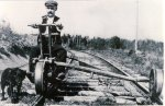 Handcar on the PAD&W, date unknown (Shelley Simon).