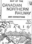 Canadian Northern Railway map, 1906.