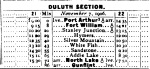 Duluth Section Timecard, November 1906.