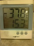 Early morning temperature, January 2013.