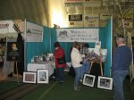 Visitors at the booth, April 2013.