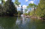 Creek between Little North and Little Gunflint Lakes, June 2013.