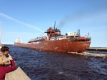 Freighter Kaye E. Barker leaving Duluth, July 2013.