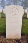 Grave of Rifleman Adamson, Beny-sur-Mer, March 2014.