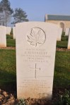 Grave of Private Barrett, Beny-sur-Mer, March 2014.