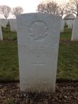 Grave of Pte. Dore, March 2014.