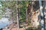 Rock cut, Gunflint Lake, August 1994.