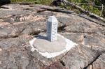 Boundary Marker, Gunflint Lake, July 2014.