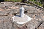 Boundary Marker, Gunflint Lake, July 2014.