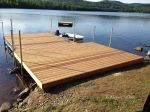 Completed dock, July 2016.