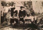 Handcar, Gunflint Lake, circa 1910.